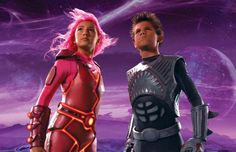 This is Taylor Lautner!  Starring in the kid flick Shark Boy and Lava Girl.  Quite a different look eh?