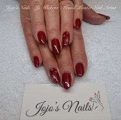 CND Shellac manicure with hand painted nail art - By Jo Wickens @ Jojo's Nails- www.jojosnails.com