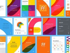 Freeformers Brand Guide by Kyle Anthony Miller on Dribbble Brand Identity Design, Branding Design, Logo Design, Branding Ideas, Layout Design, Web Design, Charity Branding, Brand Manual, Brand Book