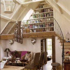 7 Mini Library Design Ideas You Can Try at Home dream houses Having a dream home will feel perfect with the presence of a favorite corner of the room. For those of you who like to read, presenting a mini library. Dream Home Design, My Dream Home, Home Interior Design, House Design, Loft Design, Aesthetic Rooms, Library Design, Vintage Design, Rustic Design