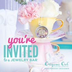 Origami Owl. You're invited to a jewelry bar! www.CharmingLocketsByAline.OrigamiOwl.com