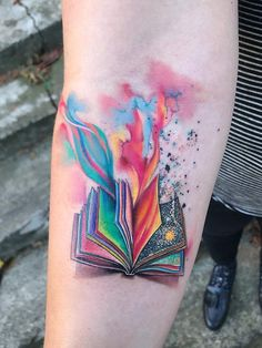 Watercolor tattoo designs for women Mini Tattoos, Body Art Tattoos, Small Tattoos, Sleeve Tattoos, Tattoo Life, Book Tattoo, Tattoo Arm, Unique Tattoos, Beautiful Tattoos