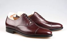 John Lobb City II in Claret Misty Calf