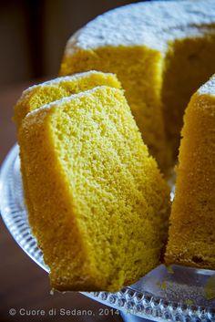 Lemon Chiffon Cake o ciambella americana al limone - Cuore di Sedano