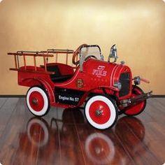 Deluxe Fire Truck Roadster Pedal Car | Dexton Kids