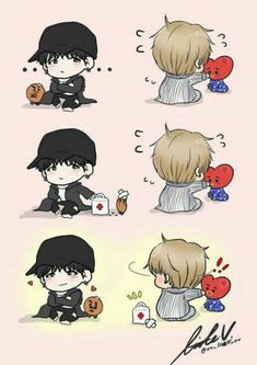 comics of kookv and vkook, yoonmin and images also information d… # Fanfic # amreading # books # wattpad Bts Chibi, Bts Lockscreen, Yoonmin, K Pop, Bts Memes, Kpop Anime, Bts Cute, Fanart Bts, Min Yoonji