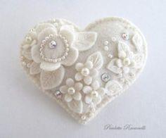 felt crafts / all white