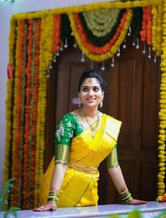 Elegant Fashion Wear Explore the trendy fashion wear by different stores from India Wedding Saree Blouse Designs, Pattu Saree Blouse Designs, Half Saree Designs, Blouse Designs Silk, Saree Blouse Patterns, Saree Wedding, Wedding Bride, Bollywood Wedding, Bridal Sarees