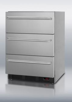Summit SP6DS7ADAx 24 Inch Triple Drawer Refrigerator with Spring Assisted Roller Drawers, Automatic Defrost, Adjustable Thermostat, ADA Compliant and Commercially Approved