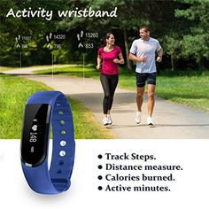 Fitness Tracker with Heart Rate monitor, EIISON Z4 Activity Watch Step Walking Sleep Counter Wireless Wristband Pedometer Exercise Tracking Sweatproof Sports Bracelet for Android and Ios, Blue - http://physicalfitnessshop.com/shop/fitness-tracker-with-heart-rate-monitor-eiison-z4-activity-watch-step-walking-sleep-counter-wireless-wristband-pedometer-exercise-tracking-sweatproof-sports-bracelet-for-android-and-ios-blue/ http://physicalfitnessshop.com/wp-content/uploads/2017/0