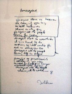 "Limited Edition Print ""Imagine Lyrics"" by John Lennon In My Life Beatles, Beatles Art, Beatles Songs, Love Of My Life, Love Her, Imagine Lyrics, Imagine John Lennon, She Loves You, Music Pics"