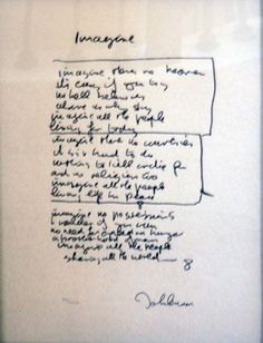 "Limited Edition Print ""Imagine Lyrics"" by John Lennon"