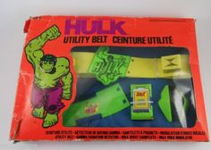 INCREDIBLE-HULK-UTILITY-BELT-Marvel-Vintage-1978-NEW-Ahi-Grand-Toys-Hong-Kong