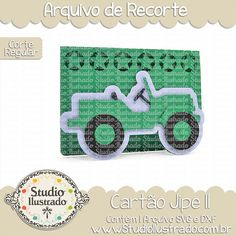 Cartão Jipe II, cartão, jipe, carro, carros, car, cars, natureza, nature, outdoors, verde, green, estrela, estrelas, star, stars, arquivo de recorte, corte regular, regular cut, svg, dxf, png,  Studio Ilustrado, Silhouette, cutting file, cutting, cricut, scan n cut.