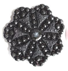 Lacy Black Glass Button  Large by KPHoppe on Etsy - http://www.hoppeglass.com
