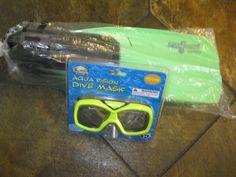 Aqua VISION Diving  mask & Sea Quest Norrizon fens Lime Green #AquaVisionSeaQuest