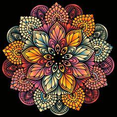 Mandala Art Lesson, Mandala Artwork, Mandala Drawing, Mandala Painting, Mandala Design, Mandala Pattern, Dibujos Zentangle Art, Dot Art Painting, Mandala Coloring