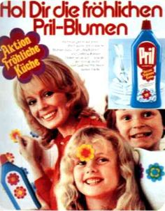 Das MUST-HAVE der Siebziger: Pril-Blumen!!! Repinned by www.gorara.com