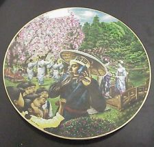 Windows on the World Collector Plate - Tokyo at Cherry Blossom Time by TableFor5Events on Etsy