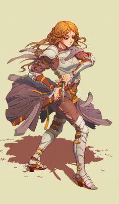 Knight by Vasiliy Kovpak. Fantasy Character Design, Character Creation, Character Design Inspiration, Character Art, Character Ideas, Dungeons And Dragons Characters, Dnd Characters, Fantasy Characters, Fantasy Armor
