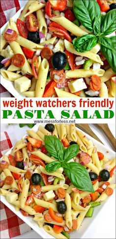 This Weight Watchers Pasta Salad will become one of your favorite Weight Watcher. This Weight Watchers Pasta Salad. Weight Watchers Pasta, Weight Watcher Desserts, Weight Watchers Snacks, Weight Watchers Sides, Weight Watcher Dinners, Weight Watcher Wraps, Penne Pasta, Rice Pasta, Ww Recipes