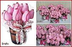 Berry Roses By Flowering Sweets  www.floweringsweets.com arreglos frutales en Costa Rica