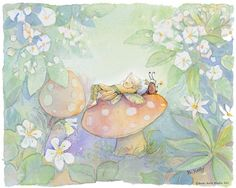 Becky Kelly fairy watercolor.