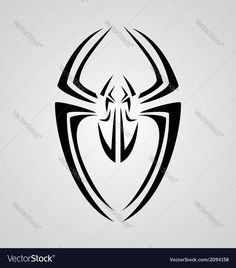 Spider Tribal Vector Image by VectoryOne Spiderman Stencil, Spiderman Tattoo, Spiderman Art, Tribal Tattoo Designs, Tribal Tattoos, Spider Drawing, Pinstriping Designs, Superhero Design, Cartoon Faces