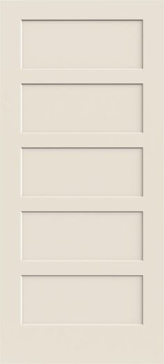 5 Panel Flat Shaker Style Primed 6 8 Quot 80 Quot Darpet