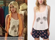 Hanna Marin (Ashley Benson) wears this raccoon face tank in this week's episode of Pretty Little Liars. It is the Hometown Heroes [...]