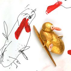 Manfred Bischoff 'Bachelor' 2004. Brooch; gold, coral