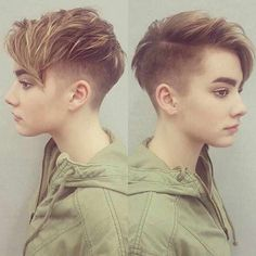 40 Best Short Pixie Cut Hairstyles 2019 - Cute Pixie Haircuts for Women - - Short Hairstyles - Hairstyles 2019 Are Women's pixie cuts in for Definitely! The short pixie hairdo is as yet hot and getting one is the ideal method to emerge from the group. Tomboy Hairstyles, Pixie Hairstyles, Short Hairstyles For Women, Cool Hairstyles, Hairstyles 2016, Fringe Hairstyles, Hairstyle Ideas, Lesbian Hair, Women Pixie Cut