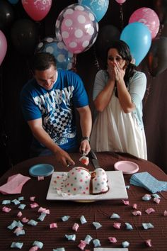gender reveal, love the cake