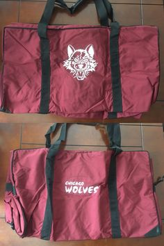 Equipment Bags 58113: Jrz Hockey Official Ahl Bag Chicago Wolves Team Pro Stock Player Brand New BUY IT NOW ONLY: $174.95