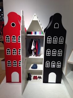 Amsterdam storage cabinets for kids. Available in the U.S. through Cool Kids Company