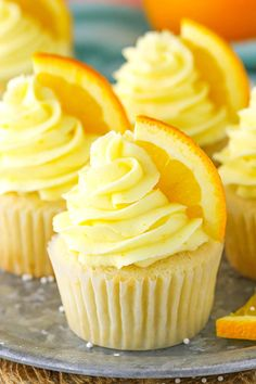 Cupcake recipes 73394668914364763 - Orange Cream Cupcakes will take you back to your childhood! Made with orange cupcakes, frosting & vanilla cream filling! Such a delicious cupcake recipe! Yummy Cupcakes, Mini Cupcakes, Cupcake Cakes, Spring Cupcakes, Cup Cakes, Orange Creamsicle, Cupcake Recipes, Dessert Recipes, Cupcake Ideas
