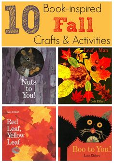 10 Book Inspired Fall Crafts and Activities featuring books by Lois Ehlert from Virtual Book Club for Kids