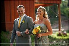Gray and yellow wedding colors.  Red Pine Lodge wedding.  Mountain wedding.