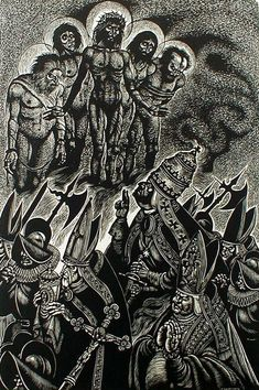 The-Follies-of-the-Popes-from-In-Praise-of-Folly-Portfolio-of-10-woodcuts-by-Fritz-Eichenberg.jpg (532×800)