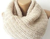 infinity scarves,Hand crocheted scarf cowl,terra-cotta,neckwarmer,women chrochet,Winter spring trend,2013 fashion trend,valentines day. $35.00, via Etsy.