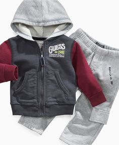 Guess Baby Set, Baby Boys Hoodie and Active Pants - Kids Baby Boy (0-24 months) - Macy's