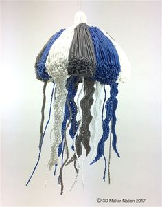 What can you do with a 3D pen?  JELLYFISH!  www.3DMakerNation.com ... PDF stencil and instruction attached