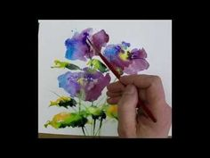 Beginners Loose Watercolours 'Simple Blue' with Andrew Geeson - YouTube