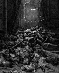 Images from Gustave Doré's illustrations to The Crusades.