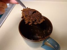 Nutella mug cake!  One box cake mix, one can of pumpkin, and mix in Nutella until the mix tastes good by itself.  You can probably cook it in the oven, I know you can without the Nutella, but it works if you  put some in a mug and nuke it for ~ 45 seconds.