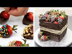 Rustic Chocolate Cake Decorating Idea by CakesStepbyStep - YouTube