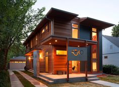 House Number Font - modern exterior by SALA Architects
