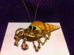 Beaded hermit crab by Stephanie Welch