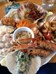 Seafood platter at Applecross Inn.