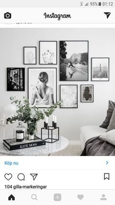 Lovin' this arrangement … mixed sizes are brought together with the use of the same frame and all B&W images. Lovin' this arrangement … mixed sizes are brought together with the use of the same frame and all B&W images. Living Room Interior, Home Living Room, Living Room Decor, Bedroom Decor, Picture Wall Living Room, Living Room Gallery Wall, Pictures On Wall Living Room, Bedroom Apartment, Bedroom Ideas